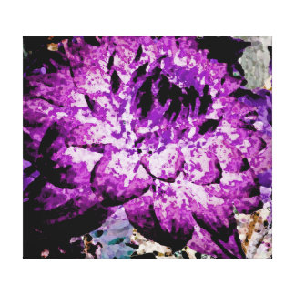 Large Purple Dahlia Canvas Print