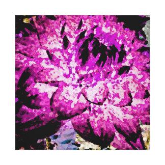 Large Purple Dahlia Stretched Canvas Prints