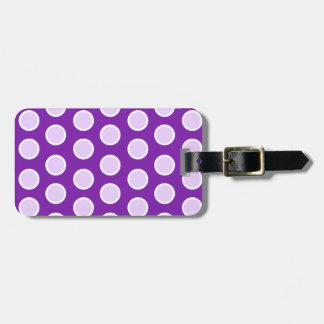 Large Purple Dots Luggage Tag