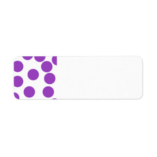 Large Purple Dots on White.