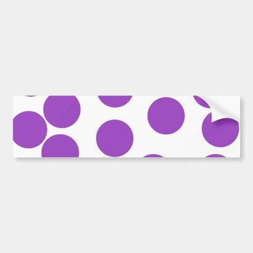 Large Purple Dots on White. Bumper Sticker