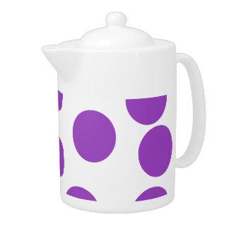 Large Purple Dots on White. Custom