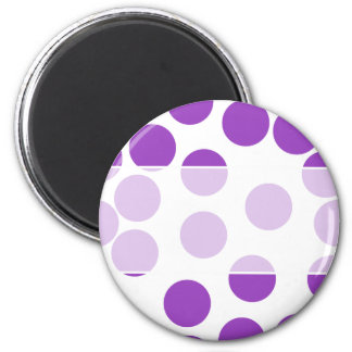 Large Purple Dots on White. Custom 6 Cm Round Magnet