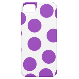 Large Purple Dots on White. Custom iPhone 5 Cases