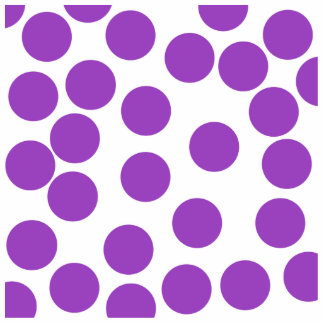 Large Purple Dots on White. Custom Photo Sculpture