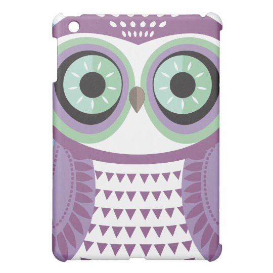 Large Purple Owl Cloud iPad Case