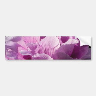 Large Purple Peony Flower Bumper Sticker