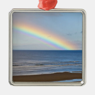 Large rainbow over the Pacific Ocean at Christmas Ornament