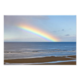 Large rainbow over the Pacific Ocean at Photo Print