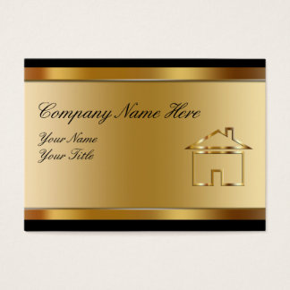 Large Real Estate Business Cards