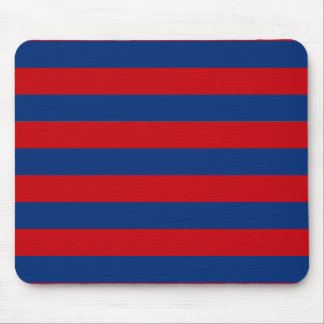 Large Red and Blue Horizontal Stripes Mouse Pad
