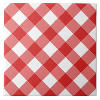 Large Red Checkered Tile