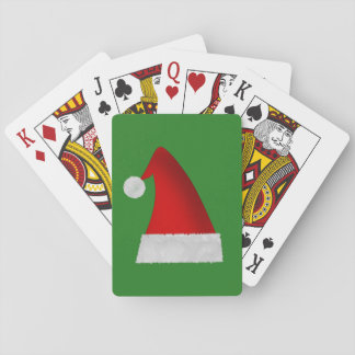 Large Red Christmas Santa Hat Playing Cards