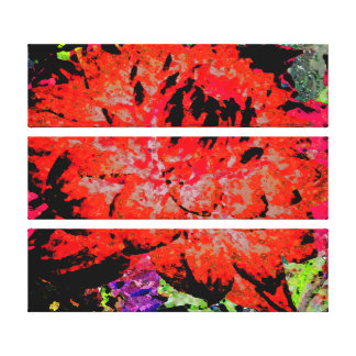 Large Red Dahlia Gallery Wrapped Canvas