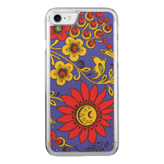 Large Red Flower Carved iPhone 8/7 Case