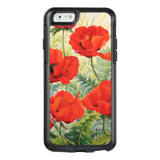 Large Red Poppies OtterBox iPhone 6/6s Case