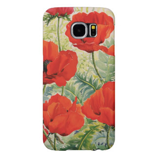 Large Red Poppies Samsung Galaxy S6 Cases