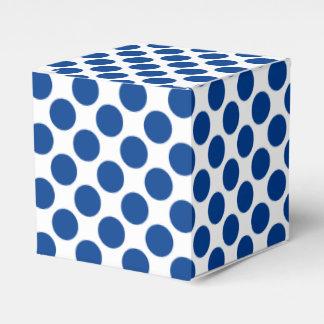 Large retro dots - cobalt blue and white favour box