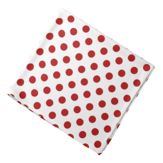 Large retro dots - red and white kerchief