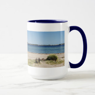 Large Ringer cup blue beach and sea