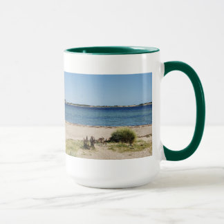 Large Ringer cup green beach and sea
