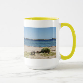 Large Ringer cup yellow beach and sea