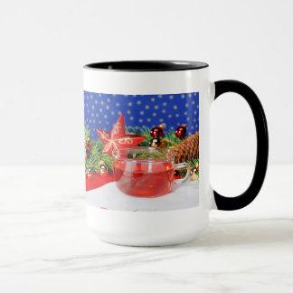 Large Ringertasse black Christmas Mug