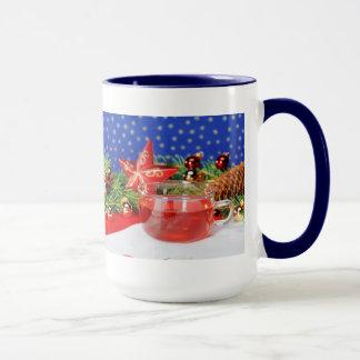 Large Ringertasse blue Christmas Mug