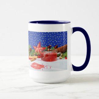 Large Ringertasse blue with Christmas motive Mug