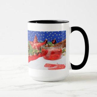 Large Ringertasse with Christmas picture Mug