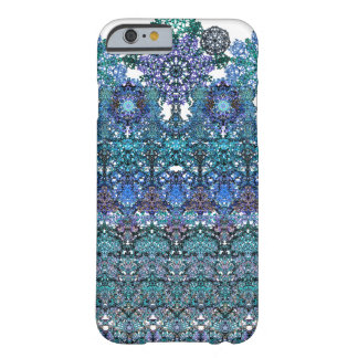 Large romantic laced turquoise ornament arabesque barely there iPhone 6 case