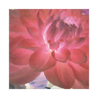 Large Rose - Red Dahlia Canvas Print
