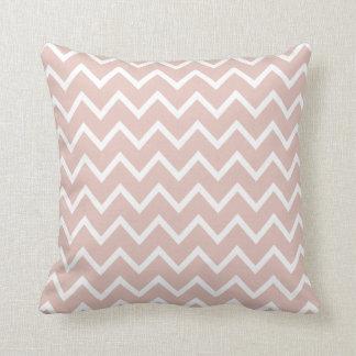 Large Rose Smoke Pink Chevron Pillow
