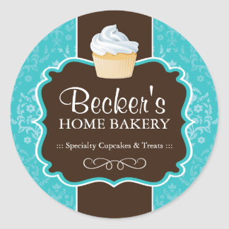 Large Round Bakery Packaging Stickers