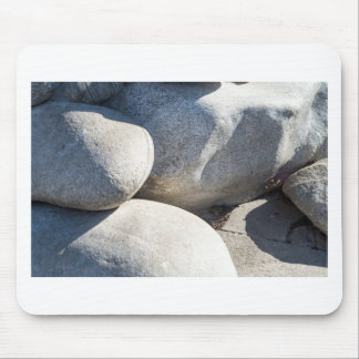 Large round boulders close-up mouse pad