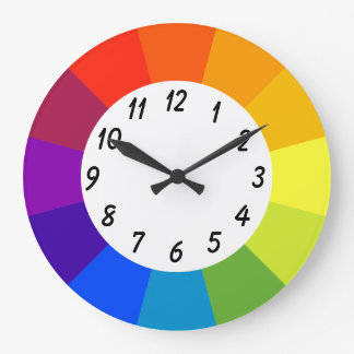 Large Round Clock in Bright Colors
