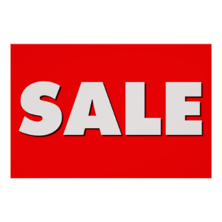 Large Sale Sign Poster