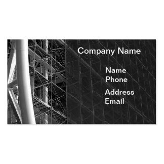Large Scale Construction Site Business Card Template