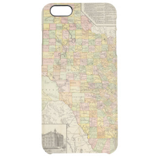 Large Scale County and Railroad Map Of Texas Clear iPhone 6 Plus Case