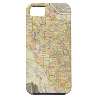 Large Scale County and Railroad Map Of Texas iPhone 5 Cases