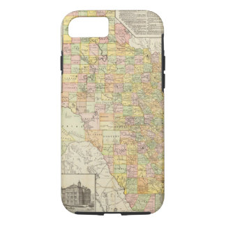 Large Scale County and Railroad Map Of Texas iPhone 8/7 Case