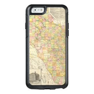 Large Scale County and Railroad Map Of Texas OtterBox iPhone 6/6s Case
