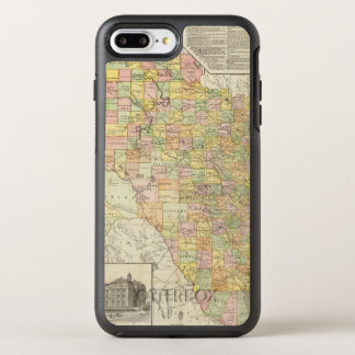 Large Scale County and Railroad Map Of Texas OtterBox Symmetry iPhone 7 Plus Case