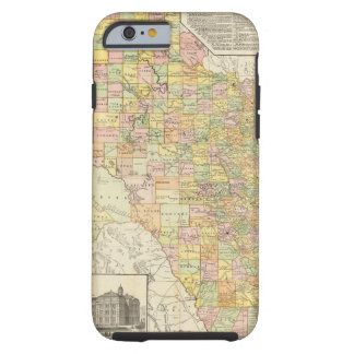 Large Scale County and Railroad Map Of Texas Tough iPhone 6 Case