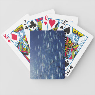 Large school of bluestreak fusiliers bicycle playing cards