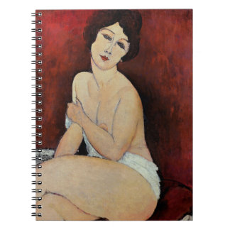 Large Seated Nude (oil on canvas) Notebooks