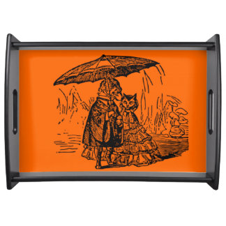 Large Serving Tray, Black cat and dog Serving Tray