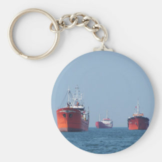 Large Ship Anchorage Basic Round Button Key Ring