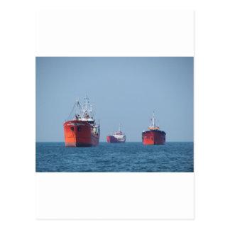 Large Ship Anchorage Postcard