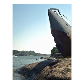 Large ship on shore and blue sky 21.5 cm x 28 cm flyer
